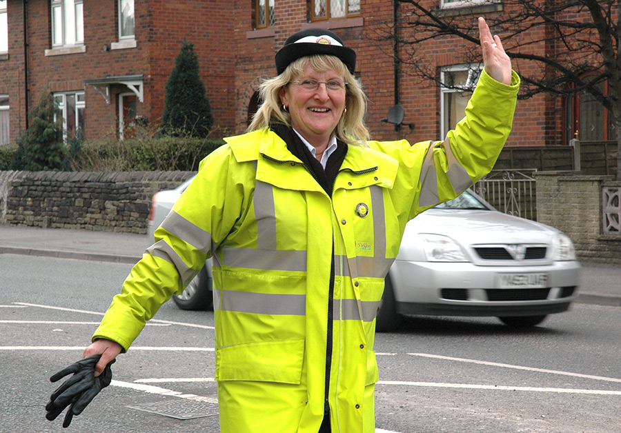 Crossing patrol officer.