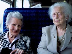 Women on train.